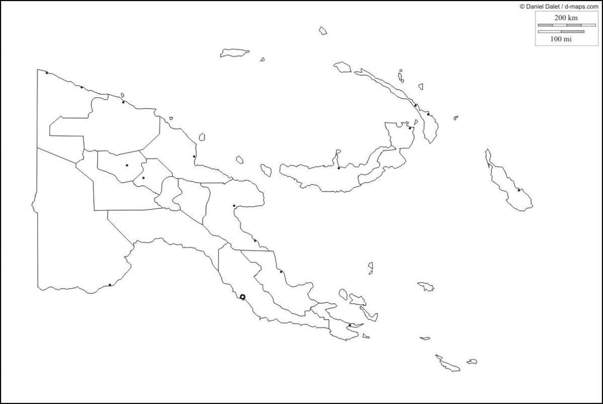 Papua Ny Guinea Kort Skitse Kort I Papua Ny Guinea I Kort Omrids