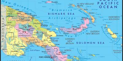 Papua Ny Guinea Kort Kort Papua Ny Guinea Melanesien Oceanien
